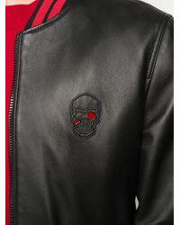 メンズ Philipp Plein スカル ボンバージャケット Black