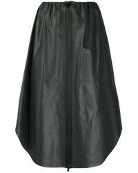 Юбка Миди На Молнии Bottega Veneta, цвет: Black