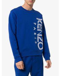 Graphic logo sweatshirt di KENZO in Blue da Uomo
