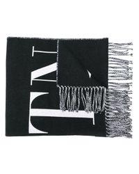 Valentino Vltn ロゴ スカーフ Black