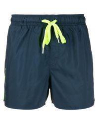 Sun 68 Blue Plain Swim Shorts for men