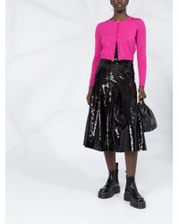 Cárdigan con detalle de malla RED Valentino de color Pink
