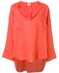Nude Orange T-Shirt mit V-Ausschnitt