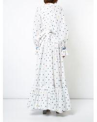 Natasha Zinko - White Floral Maxi Dress - Lyst