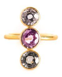 Marie-hélène De Taillac Metallic 'goddess' Ring