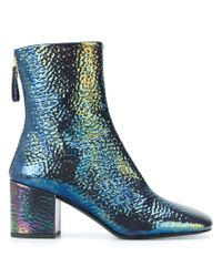 Premiata - Blue Iridescent Finish Boots - Lyst