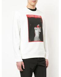 Neil Barrett White Graphic Print Sweatshirt for men