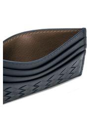 メンズ Bottega Veneta イントレチャート カードケース Blue