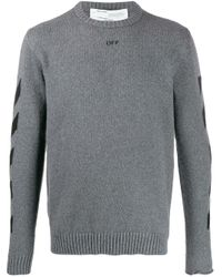 Off-White c/o Virgil Abloh Gestrickter Pullover in Gray für Herren