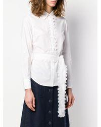 Рубашка С Фестонами Tory Burch, цвет: White