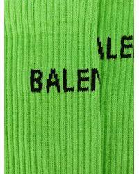 Balenciaga ロゴ靴下 Green