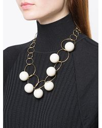 Marni - White Orb And Link Chain Necklace - Lyst
