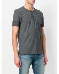 Tom Ford - Gray Henley T-shirt for Men - Lyst
