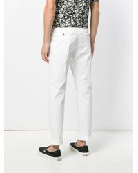 Nine:inthe:morning - White Classic Flat Front Trousers for Men - Lyst