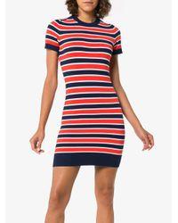 Joos Tricot Blue Marine Stripe Short Sleeve Dress
