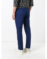 Lanvin - Blue Tapered Chino Trousers for Men - Lyst