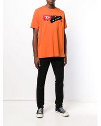 メンズ DIESEL Is Dead Tシャツ Orange