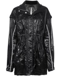 Proenza Schouler Black Shiny Nylon Tied Jacket
