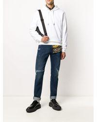 Толстовка С Капюшоном И Вышитым Логотипом Dolce & Gabbana для него, цвет: White