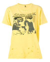 R13 Sonic Youth Tシャツ Yellow