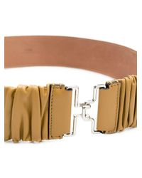 Fendi Brown Belt With Ff Logo