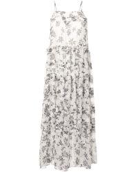Robe imprimée à volants superposés Lucy Lee Mathews en coloris White
