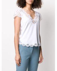 Ermanno Scervino レーストリム Tシャツ White