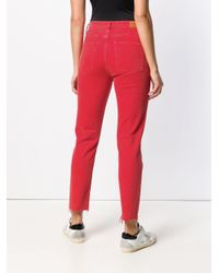 Jeans slim crop Mimi di MiH Jeans in Red