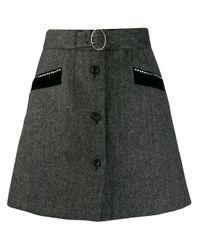 Miu Miu Aラインスカート Black