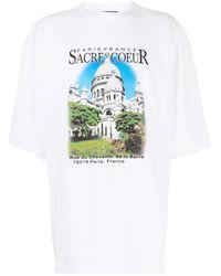Camiseta oversize con estampado Sacre Coeur Balenciaga de hombre de color Multicolor