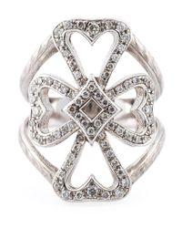 Loree Rodkin - Metallic Diamond Maltese Cross Midi Ring - Lyst