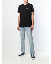 メンズ DIESEL アイレット Tシャツ Black