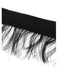 Sara Roka Black Tied Feathery Belt