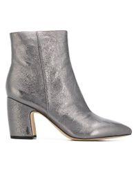 Sam Edelman Hilty 2 Fashion Boot, Dark Pewter Metallic Leather, 5 M Us