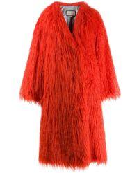 Gucci Orange Faux Fur shaggy Coat