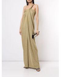 Lanvin ドレープ イブニングドレス Multicolor