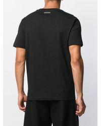 Camiseta con logo rasgado Les Hommes de hombre de color Black