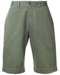 Sunspel Green Chino Knee-length Shorts for men