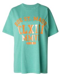 MM6 by Maison Martin Margiela - Green Printed T-shirt - Lyst