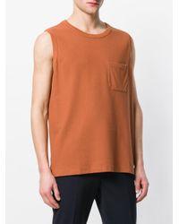 Lemaire - Orange Patch Pocket Tank Top for Men - Lyst