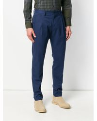 Etro Blue Tailored Trousers for men