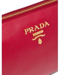 Prada ファスナー クラッチバッグ Red