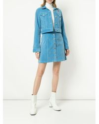 Être Cécile コーデュロイ クロップドジャケット Blue