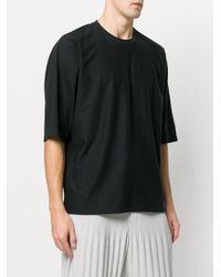 Homme Plissé Issey Miyake Blue Loose Fit T-shirt for men