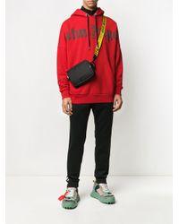 Sweat à capuche ample à logo imprimé Palm Angels pour homme en coloris Red