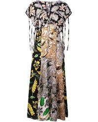 Long Patchwork-print Dress 3.1 Phillip Lim, цвет: Green