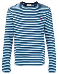 メンズ AMI Ami De Coeur ロングスリーブ Tシャツ Blue