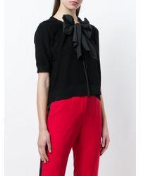 DKNY Black Tie Neck Cardigan