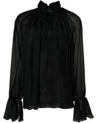 Blusa con ruches di Nili Lotan in Black