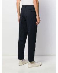 Pantalon droit classique Barena pour homme en coloris Blue